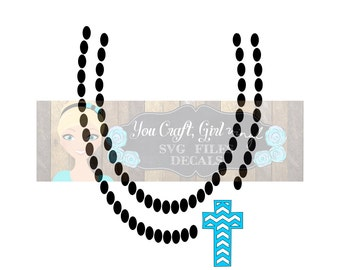 abe2671cd3 Chevron Cross Necklace Design Svg Dxf Png Commercial Use SVG Baby Jumpsuit  Design Girl Clothes svg Pearl Necklace svg chunky bead