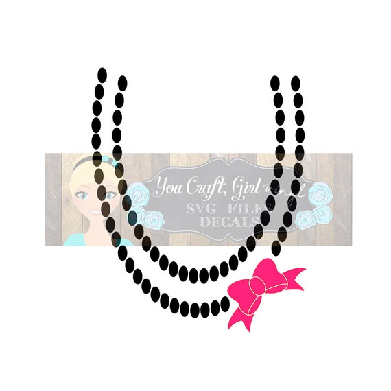 Bow Necklace Design Svg Dxf Png Pdf Commercial Use Svg Baby Etsy