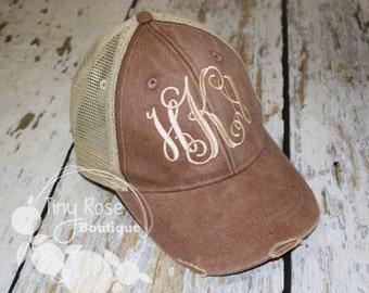 d2886c4cc75 Monogrammed Trucker Hat