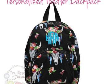 Bullskull Mini Backpack, Monogrammed Back to School Book Bags
