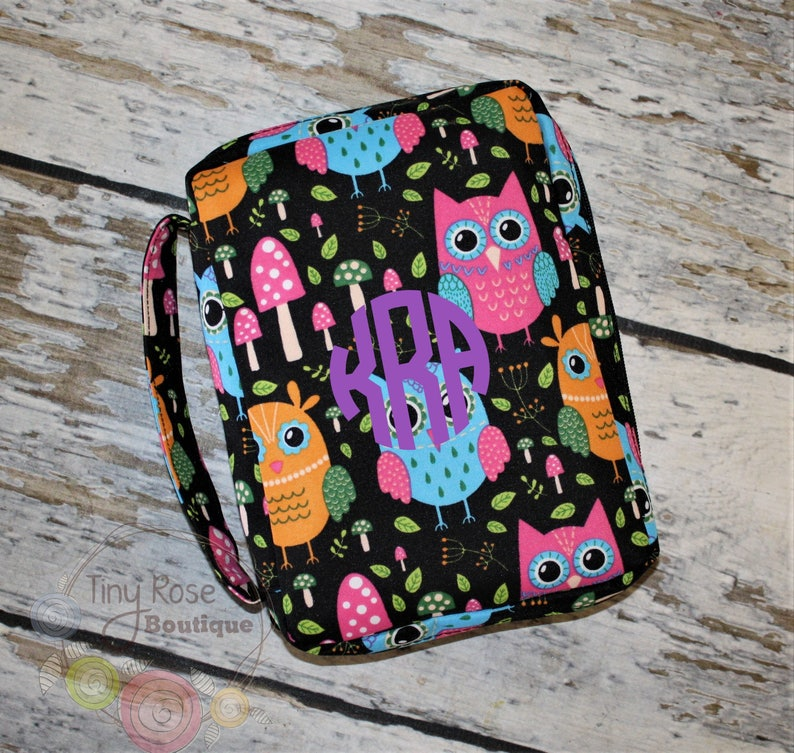 Personalized Owl Bible Carrying Case - Planner Case - Includes Name or  Monogram