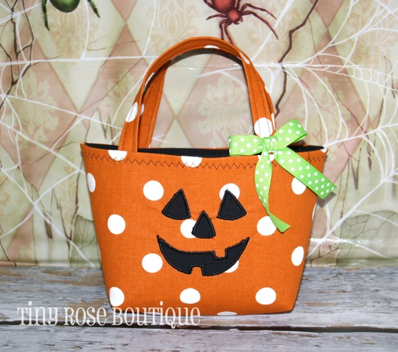 Baby's First Halloween Pumpkin | Halloween Pumpkin Trick Or Treat Tote Bag Baby S First Etsy