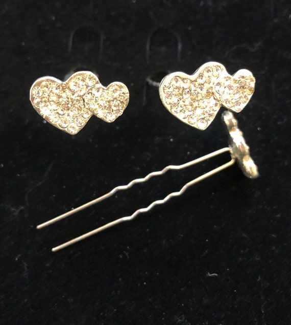 6 pieces Crystal Square Rhinestone Bridal Prom Hairpins