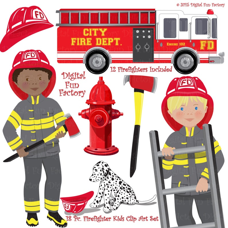 9b09091f14b Fireman Clip Art Firefighters Clip Art Fire Truck