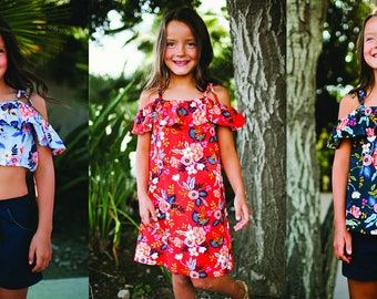 INSTANT DOWNLOAD Piper Dress & Shirt Sewing Pattern and Tutorial