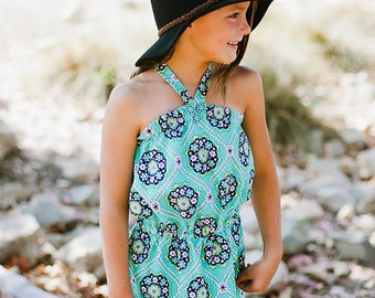 INSTANT DOWNLOAD- Jamaica Romper (Sizes 9/12 months to 12) PDF Sewing Pattern and Tutorial