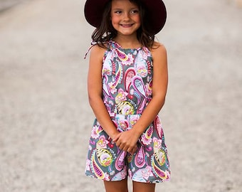 INSTANT DOWNLOAD- Hawaii Romper (Sizes 9/12 months to 12) PDF Sewing Pattern and Tutorial
