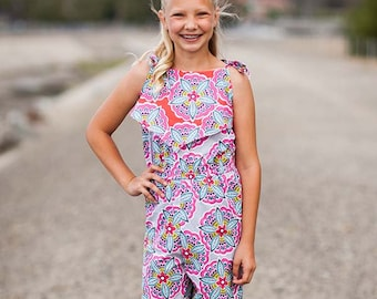 INSTANT DOWNLOAD- Bali Romper (Sizes 9/12 months to 12) PDF Sewing Pattern and Tutorial