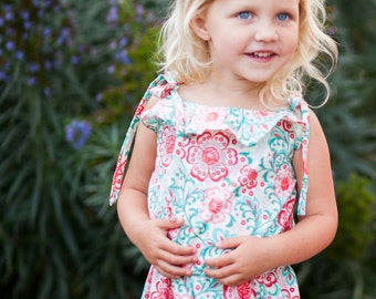 INSTANT DOWNLOAD- Cancun Romper Top (Sizes 9/12 months to 12) PDF Sewing Pattern and Tutorial