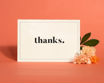 Printable Thank You Cards Modern, Minimalist Wedding Thank You Card Printable, Thank You Note Card PDF, Instant Download | Item no. VIV-03