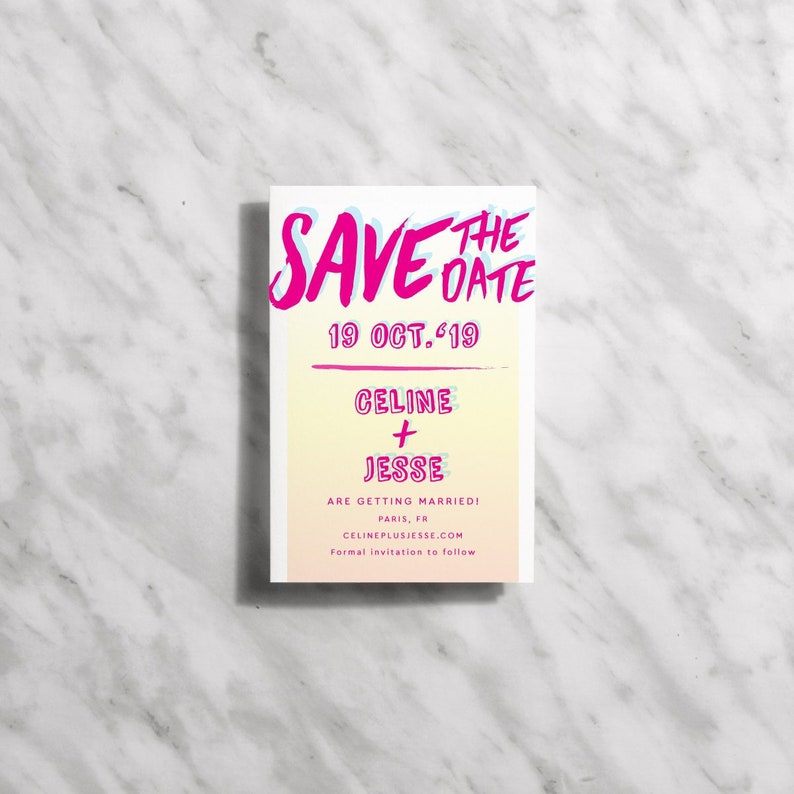 Modern Save The Date Cards Printable Hand Lettering Save The image 0