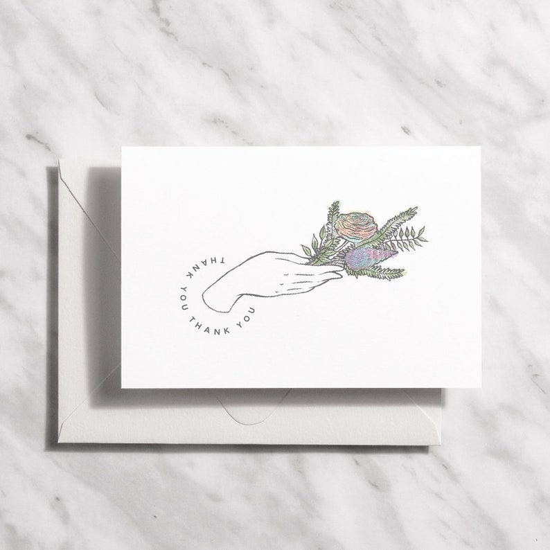 Printable Thank You Cards Floral Wedding Thank You Cards image 0