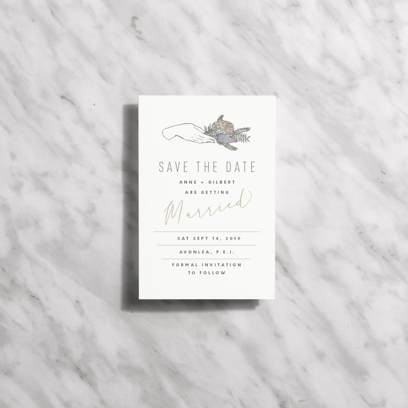 Printable Save The Date Cards Floral Modern Save The Dates image 0