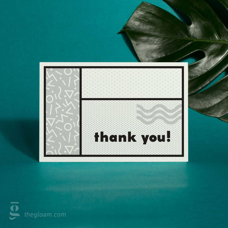 90s Inspired Thank You Cards Printable Thank You Cards image 0