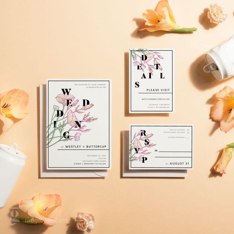 Printable Wedding Invitation Suite Wedding Invitation Floral image 0