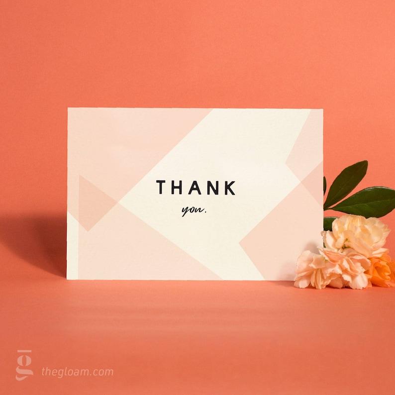 Printable Thank You Cards Set 5 Colour Options Wedding image 0
