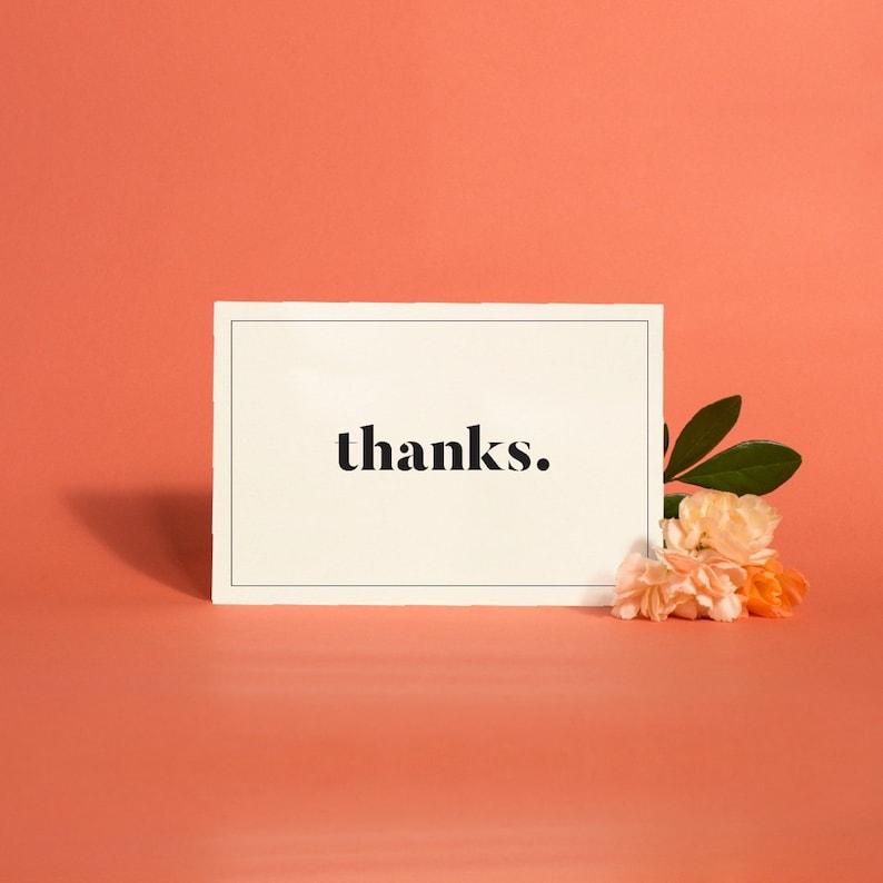 Printable Thank You Cards Modern Minimalist Wedding Thank You image 0