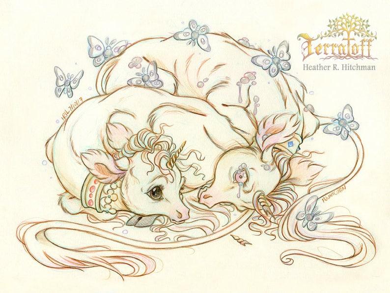 Original Drawing on Moleskine ORIGINAL OOAK Art Junicorn #10 The Brothers