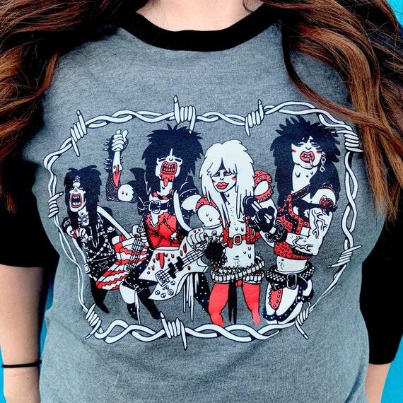 Motley Crüe t-shirt  Motley Crue merch  rock t-shirt  band merch  baseball  tee  glam metal shirt  graphic tee  80s t-shirt  retro tee