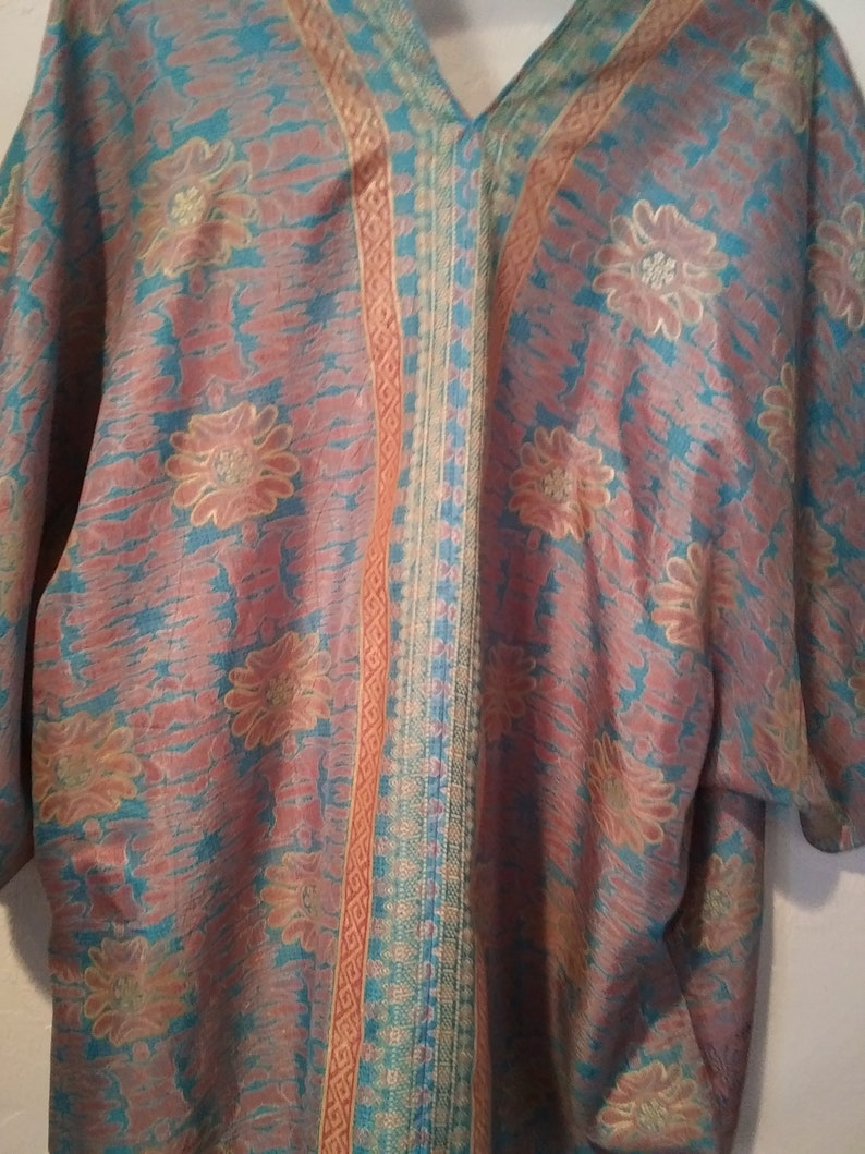 One of a kind Floral print Kimono Jacket 49.00 Unique Border print