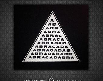 ABRACADABRA Magic Triangle - Black Canvas Patch