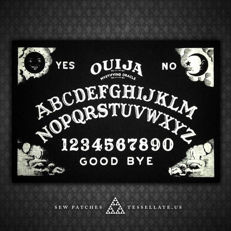 Ouija Board  Black Canvas Patch image 0