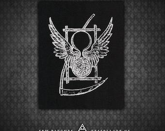 Death Hourglass - Black Canvas Patch