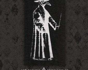 Plague Doctor - Black Canvas Patch