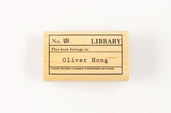 Custom Library Stamp
