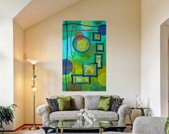 Contemporary Abstract Art - Green - Abstract Art - Dialogue