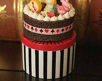 Alice in Wonderland tea party Trinket Box