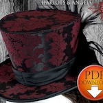Hat Pattern, Steampunk Top Hat Sewing Pattern, Wedding Hat, Mad hatter Hat PDF Download, NOT Finished Hat!