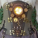 Steampunk Corset Belt, Cosplay Costume Outfit, Burning man, Cyberpunk, Dieselpunk Leather corset, All Sizes, See Video On Instagram