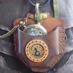 Steampunk Pocket Watch Leather Pouch DIY KIT, leather Craft, Easy To Make Professional Finish, Video Tutorial, Does not Include Watch!