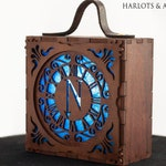 Steampunk Accessories,  Blue Nautilus Box Wearable Lamp for Cosplay and fantasy Costumes