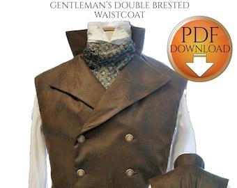 Sewing Pattern XL for Steampunk Vest, Digital Download sizes Below