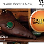 Plague Doctor Mask Pattern, PDF Digital Download,  Leatherwork, Leather Mask for Cosplay Steampunk and Larp