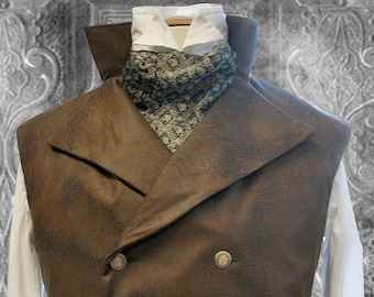 Sewing Pattern, Steampunk Vest, Waistcoat, Instant Digital Download , PDF,  Mens Costume Outfit, 48 - to 58 Inch chest XL Sizes