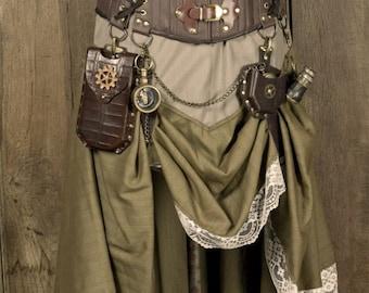 Skirt Sewing Pattern, Steampunk Pattern, Digital Download, PDF pattern, Western, Cosplay, Larp, Westworld, firefly, Saloon Girl, Pirate