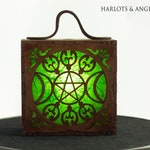 Fantasy Accessory Triple Goddess Costume Lamp  in Magical Forest Green