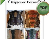 Corset Sewing Pattern in Medium For Steampunk Cosplay Outfits - Digital Download PDF