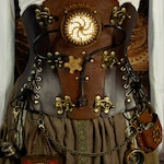 Steampunk Corset Belt. Unique Costume Piece, Alternative gift for her, Leather,  Cosplay, Steampunk Dress, The Engineer, All Sizes