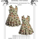 Plus sized Sewing Pattern, Dress 50's Vintage Style. DIGITAL DOWNLOAD. Drafted for curvy figures UK sizes 18-24