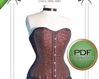 Corset Sewing Pattern,  XL Plus sized Pdf Digital Download for Tight lacing with Excellent fit