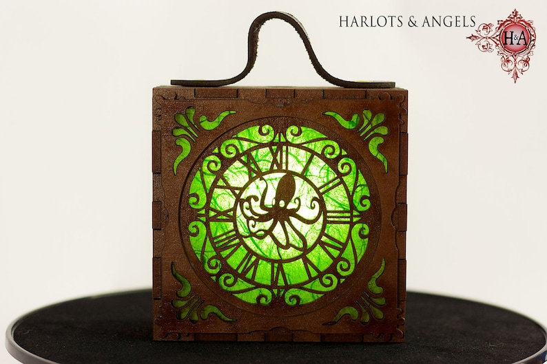 Steampunk  Lamp Green Cosplay lamp for Larp Unusual image 0