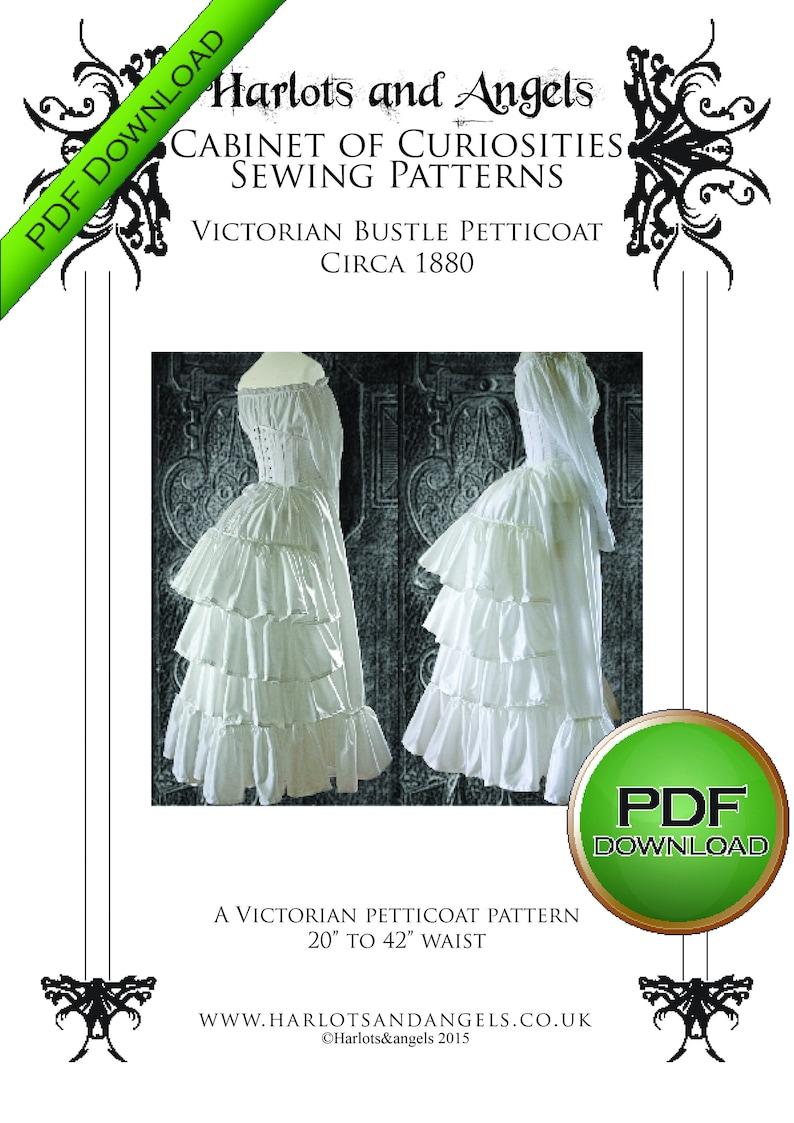 Bustle skirt Sewing Pattern PDF Download Victorian image 0