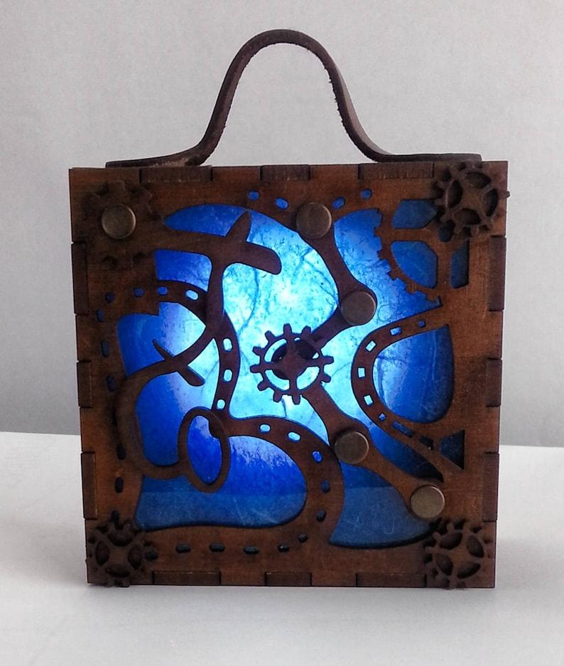 Steampunk Accessory Lantern. Lamp Alternative Gift Present image 0