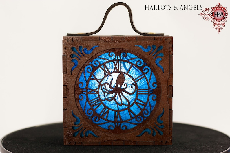 Steampunk Lamp Blue Octopus Cosplay Costume Accessory image 0