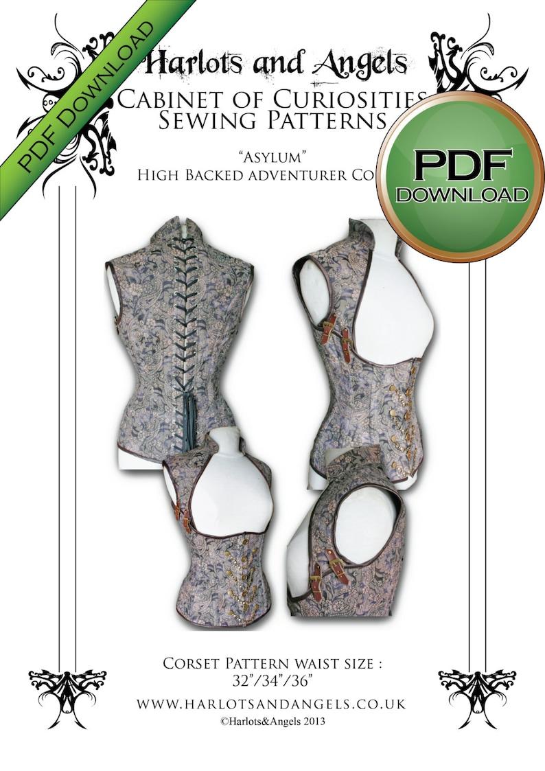Corset Sewing Pattern Digital Pattern  PDF Instant Download image 0