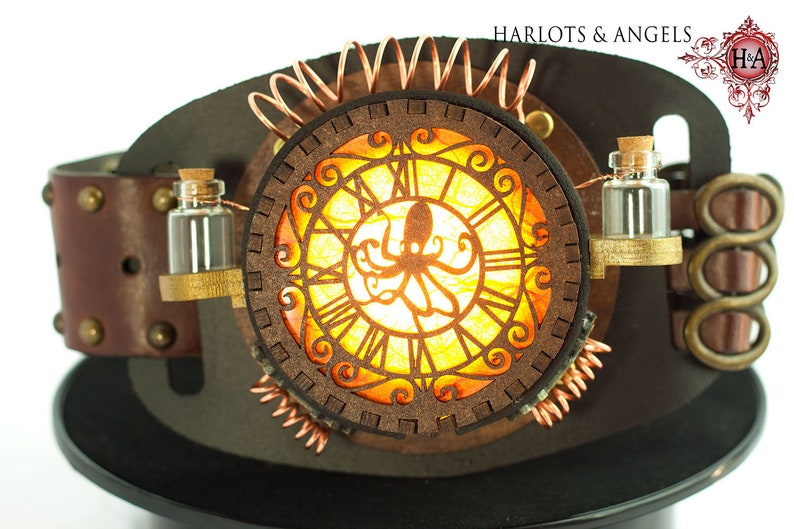 Steampunk Lamp Octopus Belt Lamp for Larp and Fantasy image 0